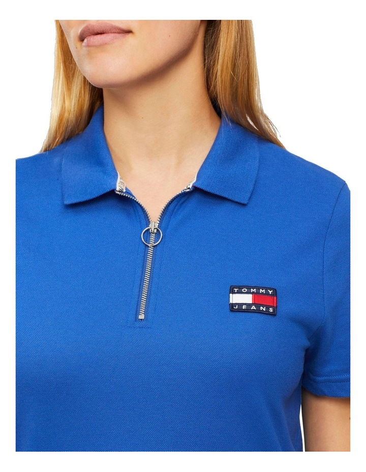 Tommy Badge Zip Neck Polo image 3