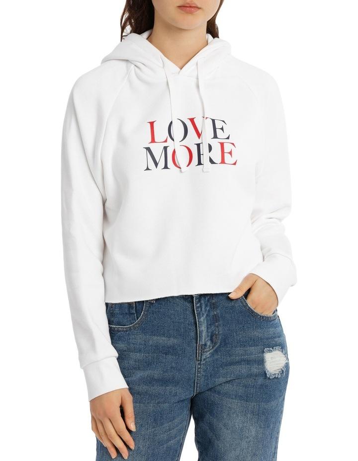Love More Slogan Hoodie image 1