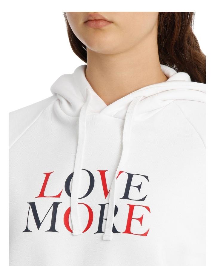 Love More Slogan Hoodie image 4