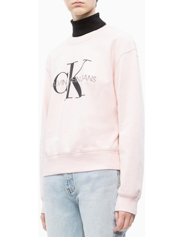 ae4f71b4d63 Calvin Klein JeansMonogram Washed Crew Neck. Calvin Klein Jeans Monogram  Washed Crew Neck