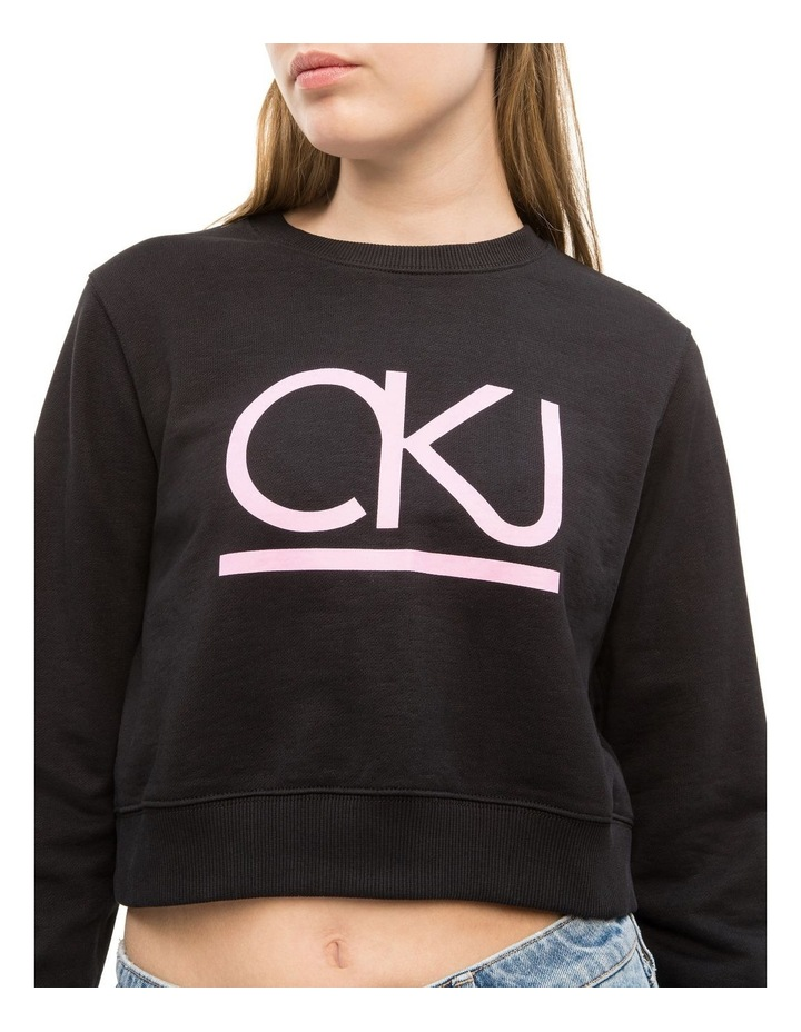 Lined Cropped Crew Neck image 2