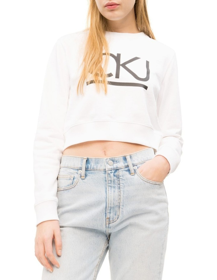 Lined Cropped Crew Neck image 1