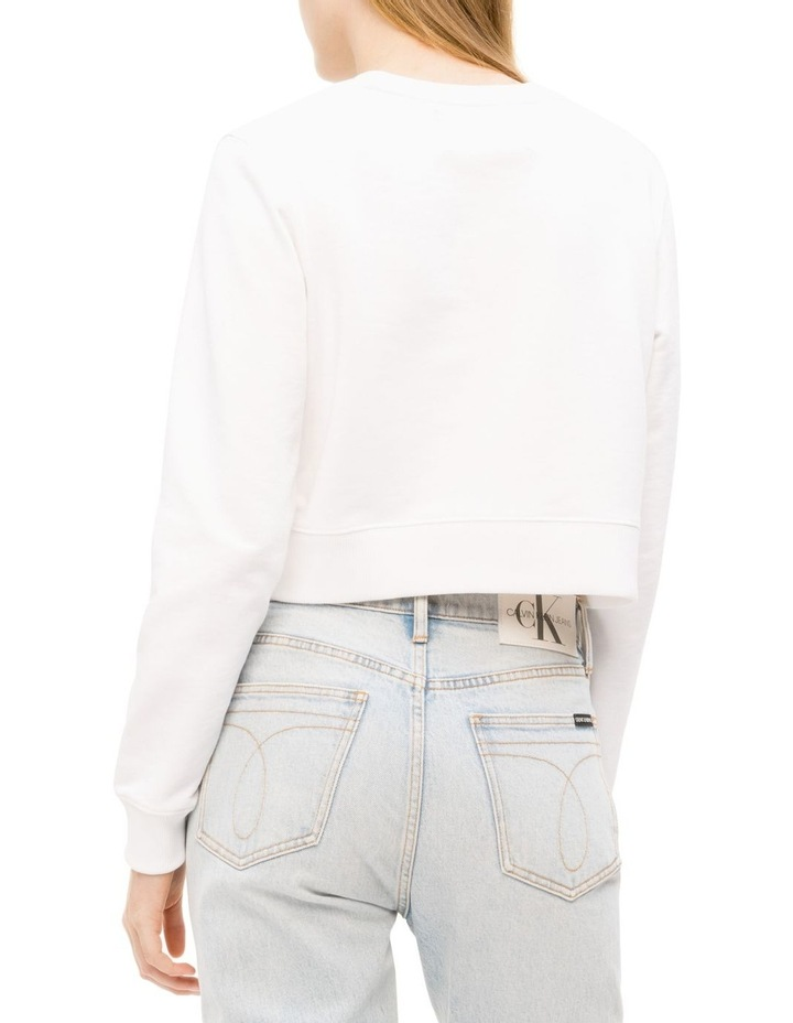 Lined Cropped Crew Neck image 3