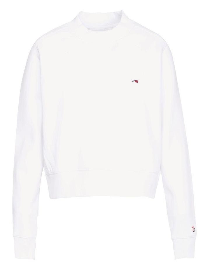 Cropped Crew Neck Sweatshirt image 5