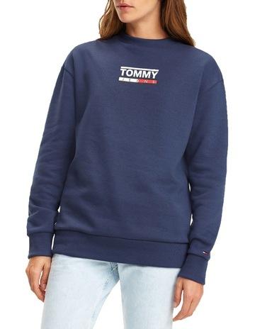 2d2e3c27 Tommy Jeans Crew Neck Logo Sweatshirt