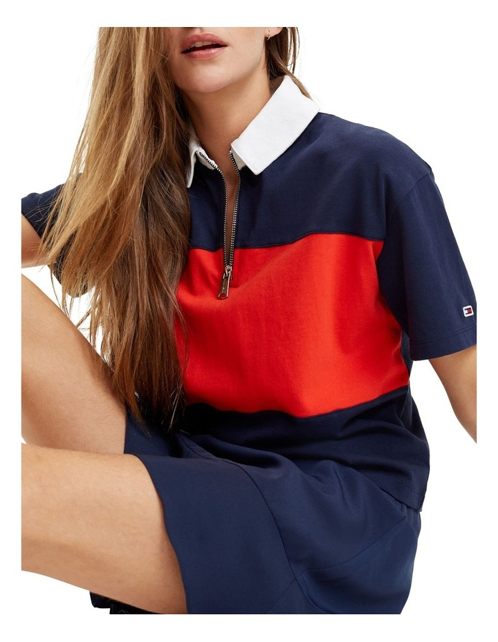 Colour-Blocked Relaxed Fit Polo image 2