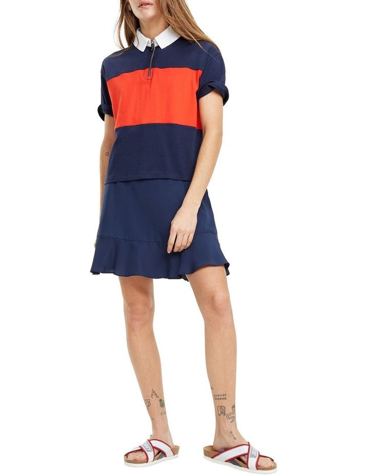 Colour-Blocked Relaxed Fit Polo image 3