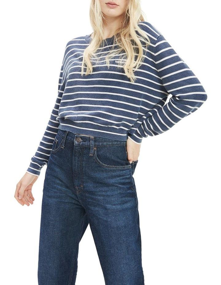 Stripe Cropped Fit Jumper image 1