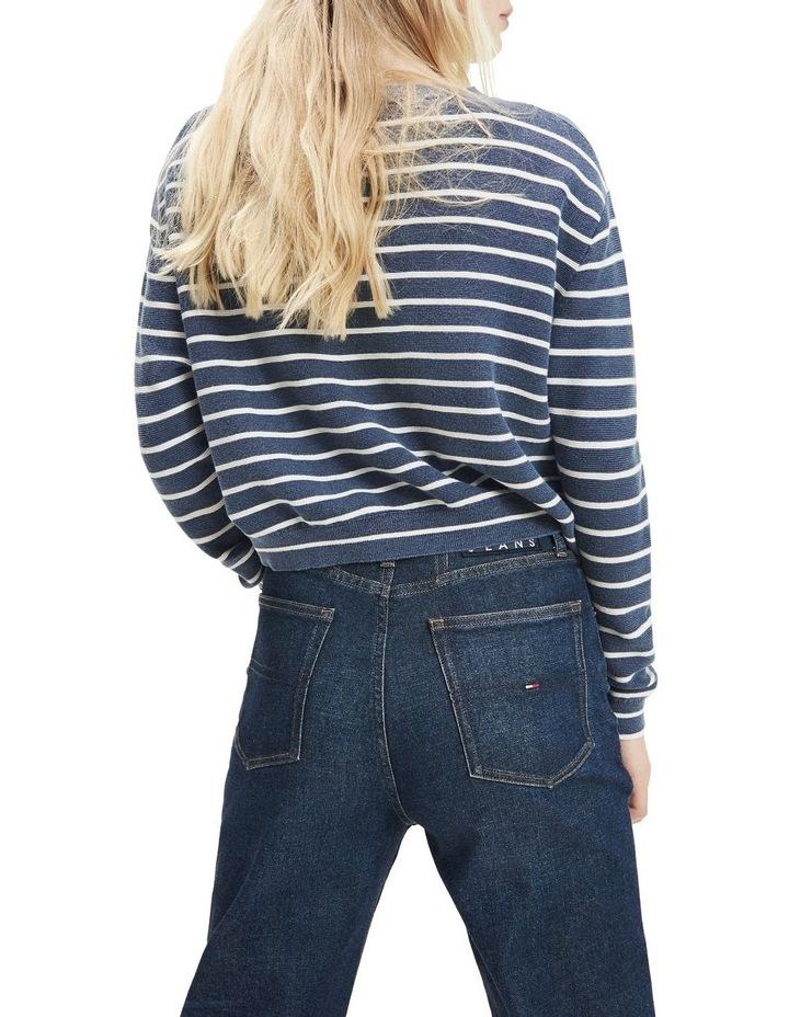 Stripe Cropped Fit Jumper image 2