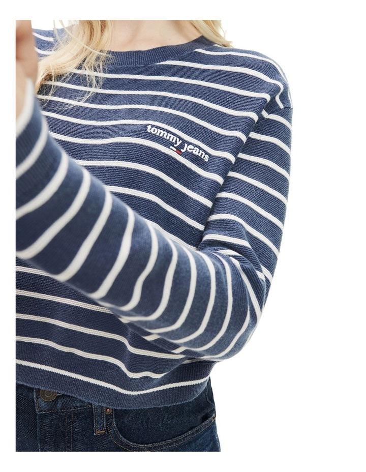 Stripe Cropped Fit Jumper image 4