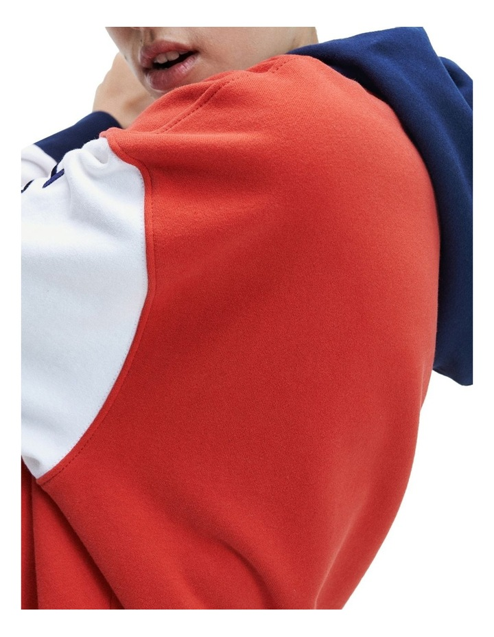 Organic Cotton Blend Colour-Blocked Hoody image 3