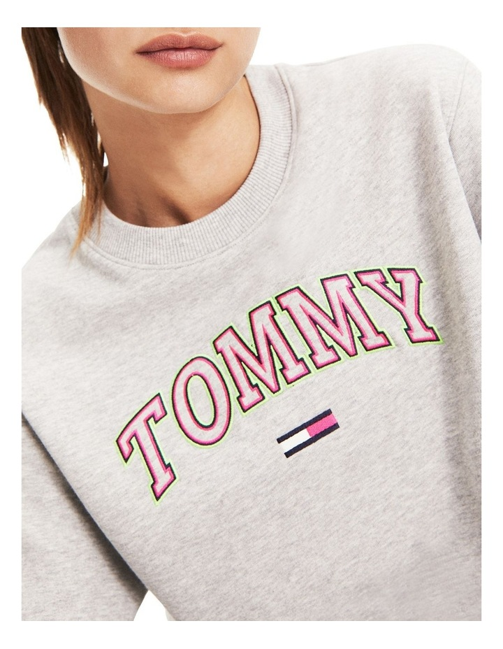 Recycled Neon Logo Cropped Jumper image 1