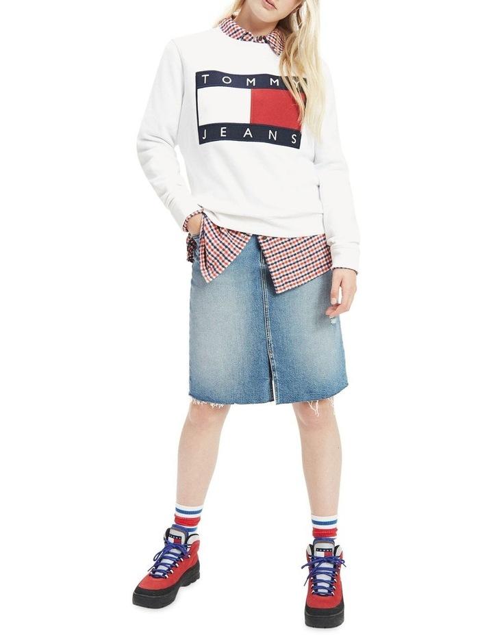 Tommy Flag Cropped Sweatshirt image 1