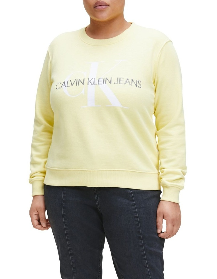 Inclusive Vegetable Dye Monogram Sweat Top image 1