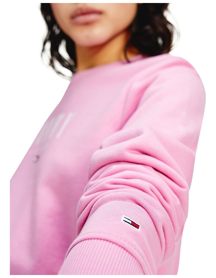 Tjw Regular Essential Logo Pink Daisy Sweatshirt image 3