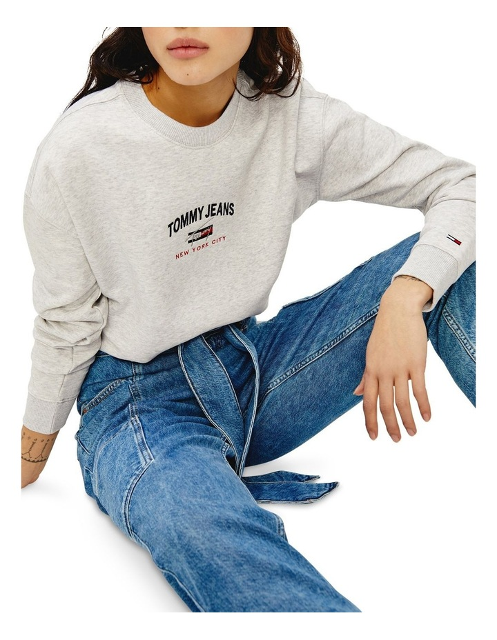 Timeless Relax Grey Marle Crew Sweat Top image 1