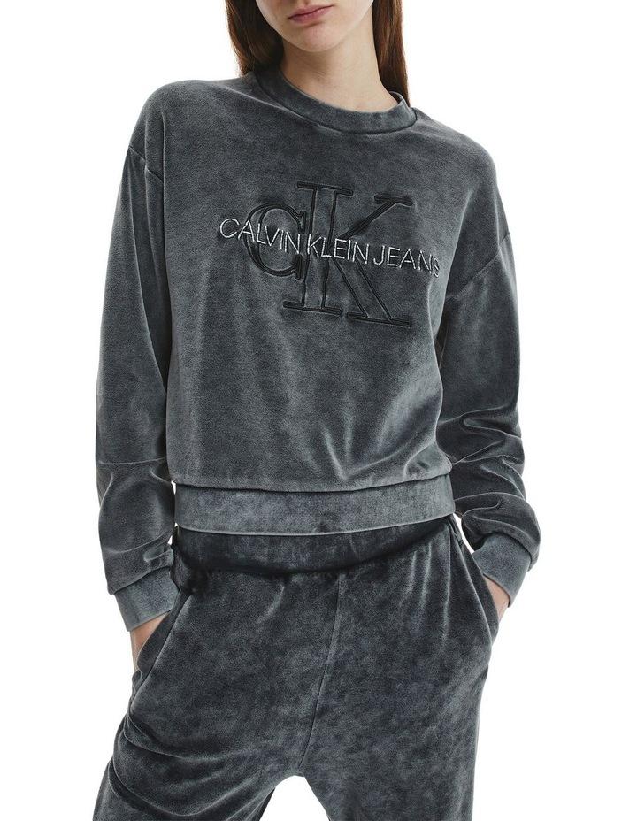 Wash Velvet Sweatshirt image 1