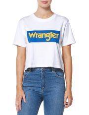 Vintage Crop Tee   White by Wrangler