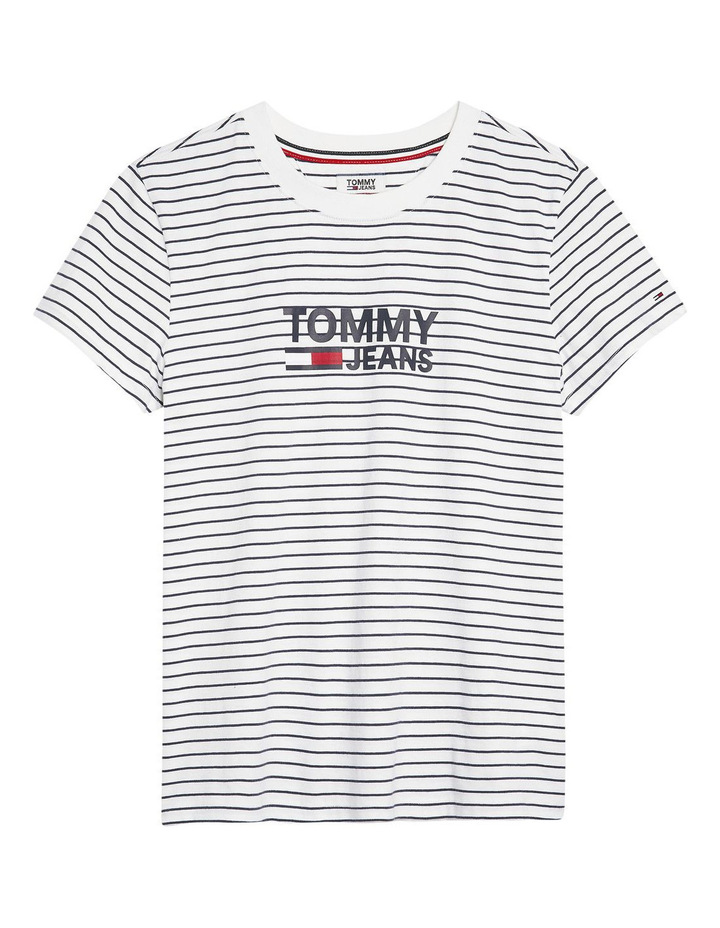 Striped Chest Graphic Tee image 1