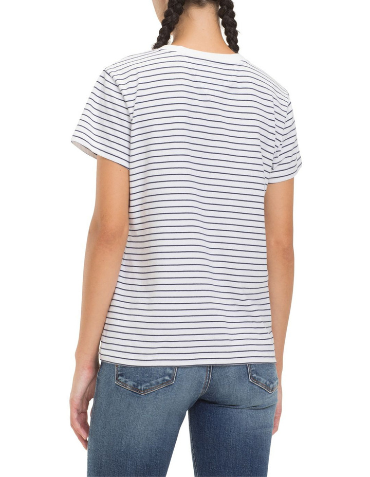 Striped Chest Graphic Tee image 3