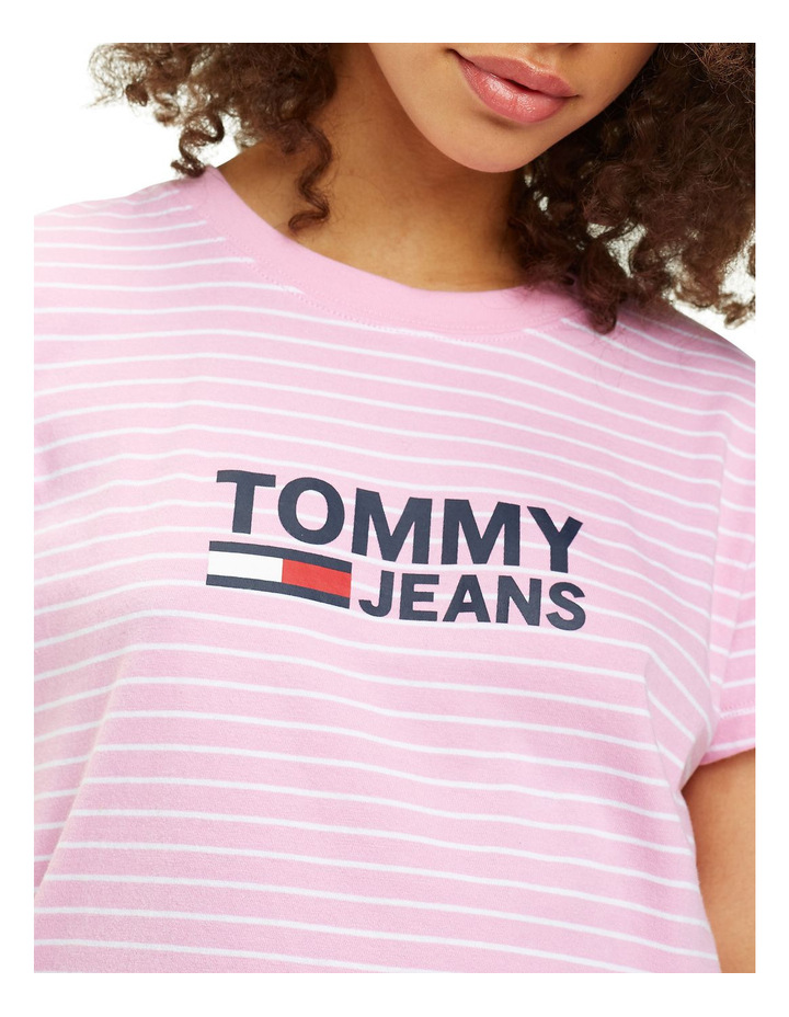 Tommy Jeans Women's Striped Chest Graphic Tee image 2