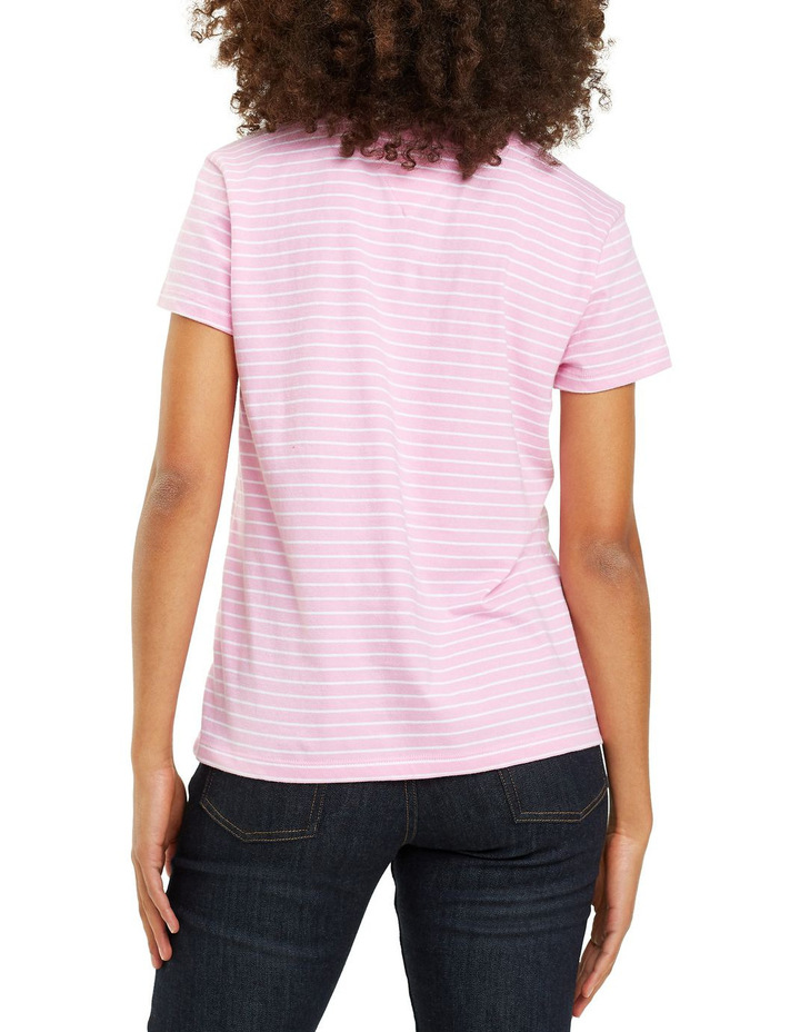 Tommy Jeans Women's Striped Chest Graphic Tee image 3