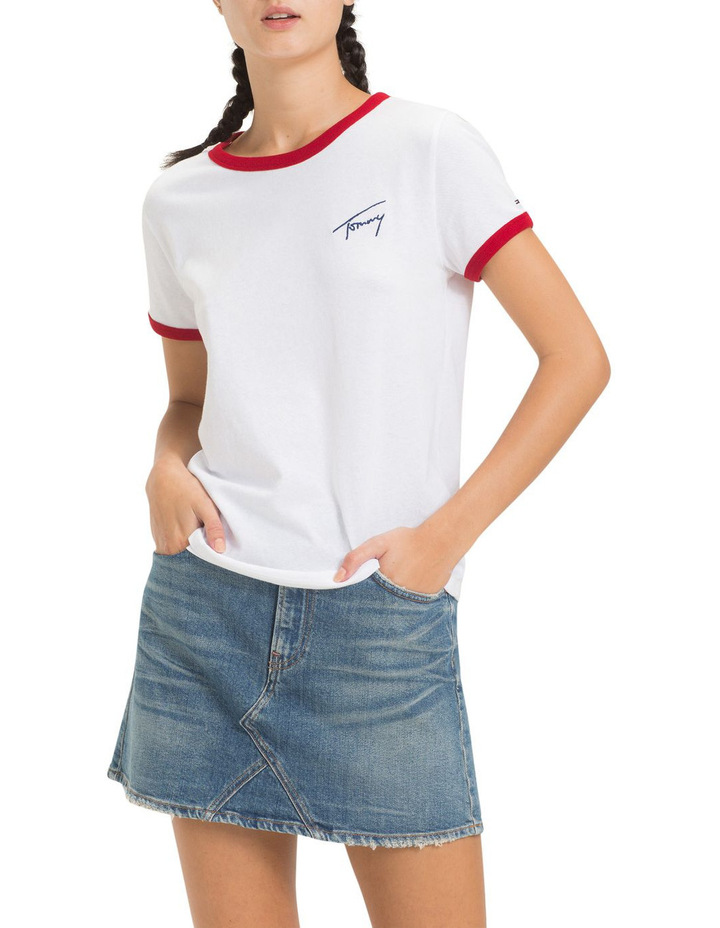Tommy Jeans Women's Signature Ringer Tee image 1