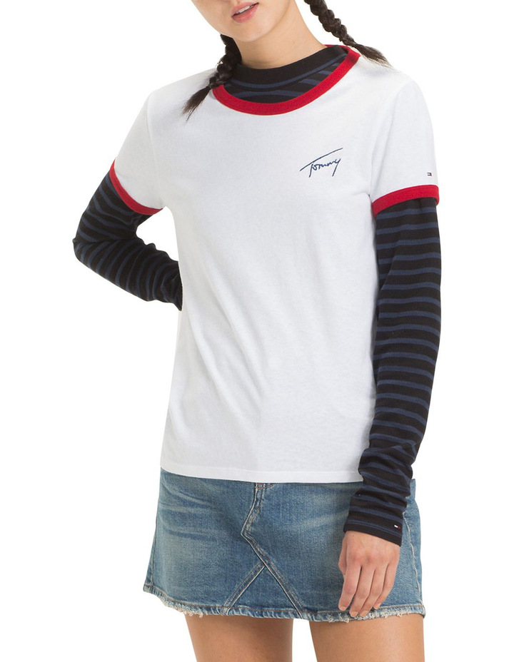 Tommy Jeans Women's Signature Ringer Tee image 2