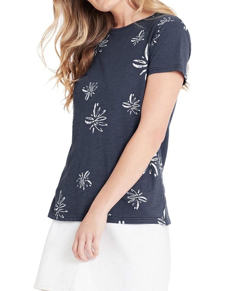 Romy Vintage Blue Flower T-Shirt image 1