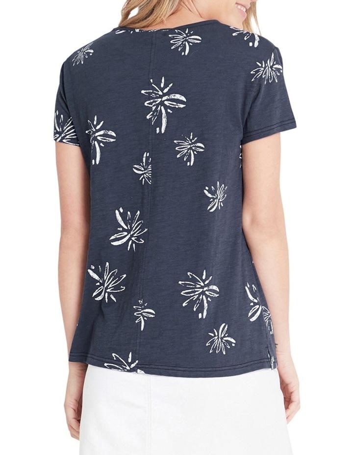 Romy Vintage Blue Flower T-Shirt image 2