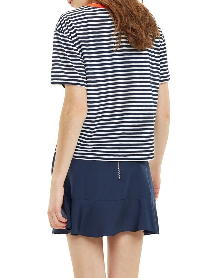 Contrast Crew Neck Stripe T-Shirt image 3