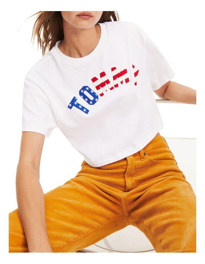 Cropped Fit Flag T-Shirt image 1