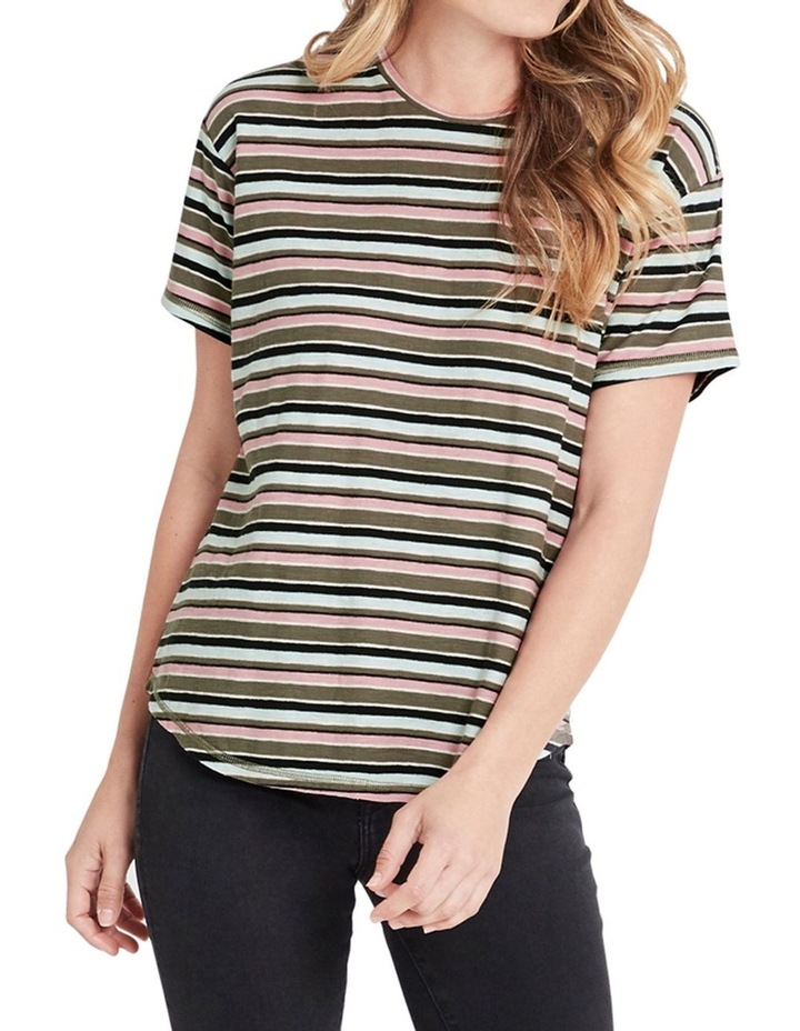 Becky Utility Multi Stripe Tee image 1