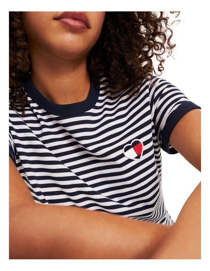 Recycled Stripe Heart Logo T-Shirt image 3
