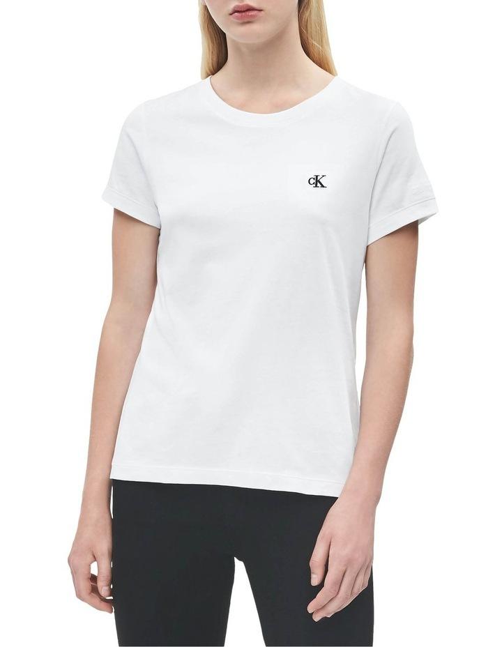 Ck Embroidery White Slim Tee image 1