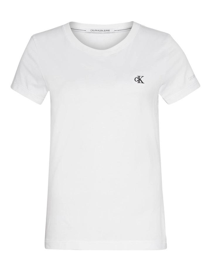 Ck Embroidery White Slim Tee image 4