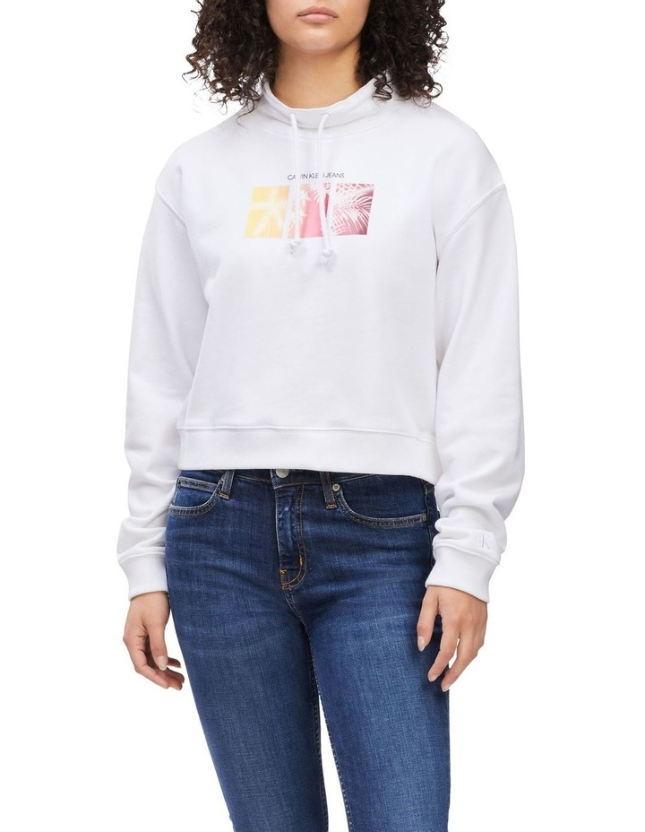 Palm Print Sweatshirt Bright White image 1
