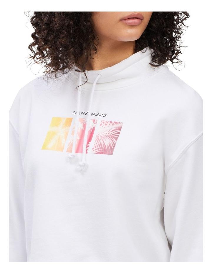Palm Print Sweatshirt Bright White image 3