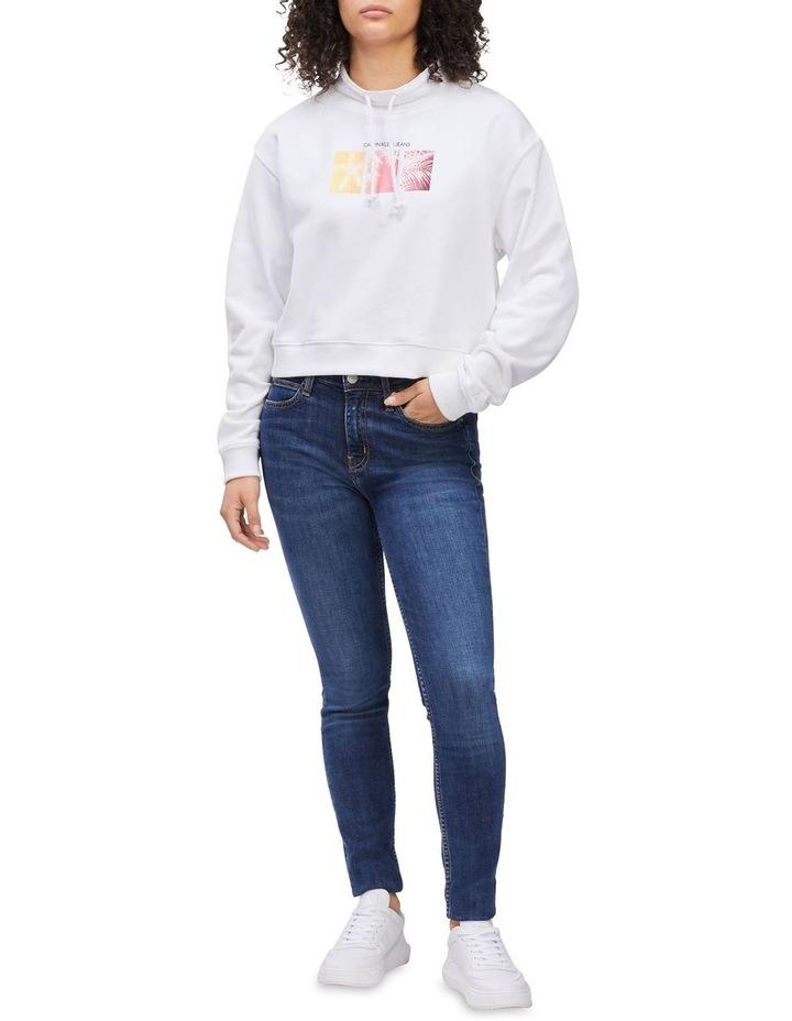 Palm Print Sweatshirt Bright White image 4
