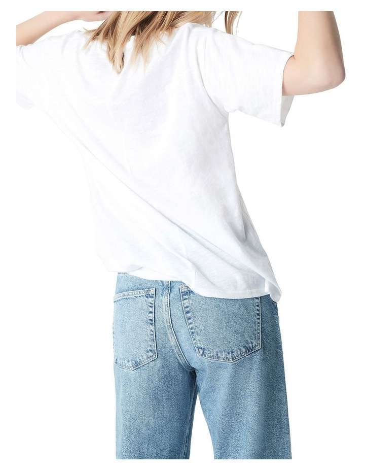 Georgia Baggy Crew T-Shirt White image 2