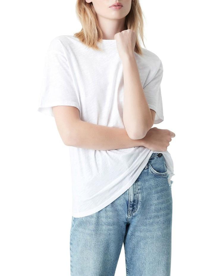 Georgia Baggy Crew T-Shirt White image 5