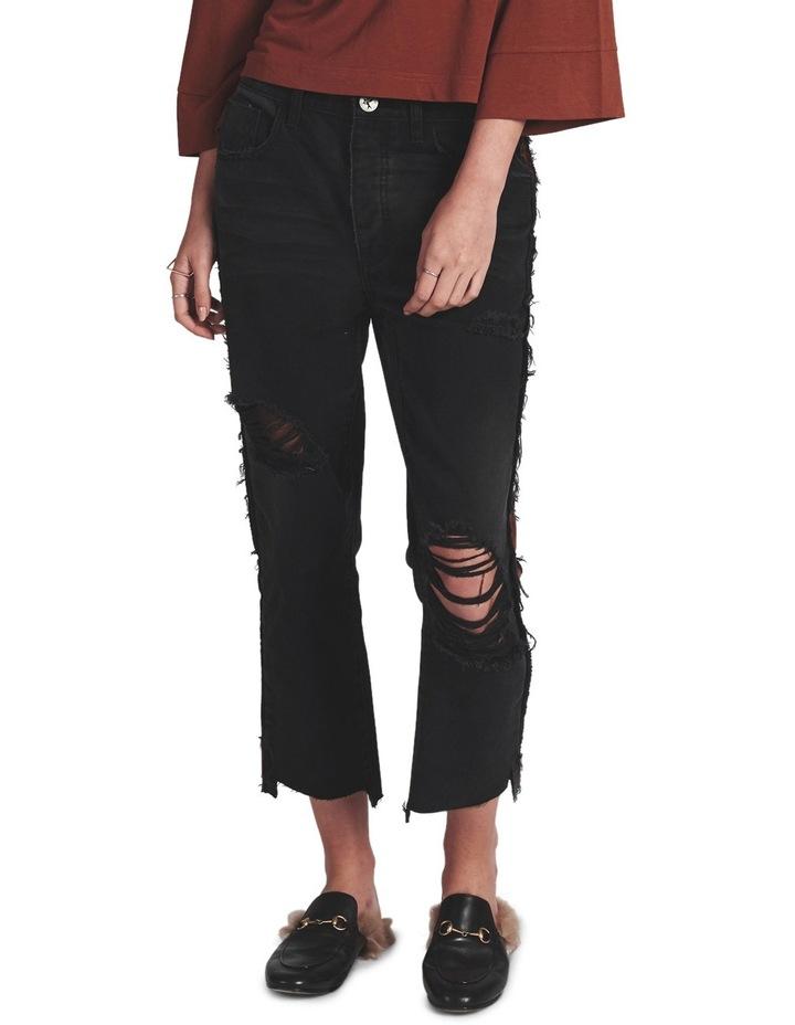 Black Van Hooligans Low Waist Relaxed Straight Leg Jean image 1