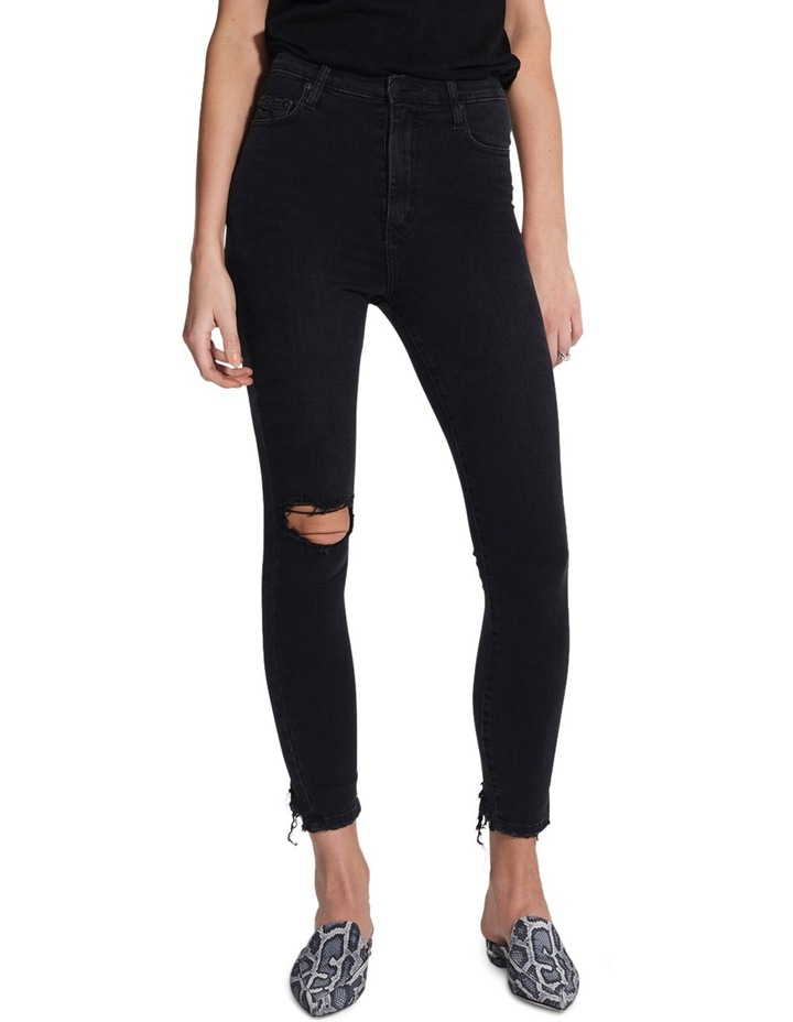 Siren Skinny Ankle Disclosed (washed black) image 1