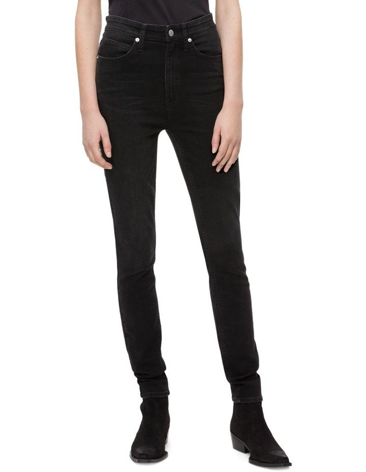 CALVIN KLEIN JEANS  HR SKINNY Denver WASHED BLACK image 1
