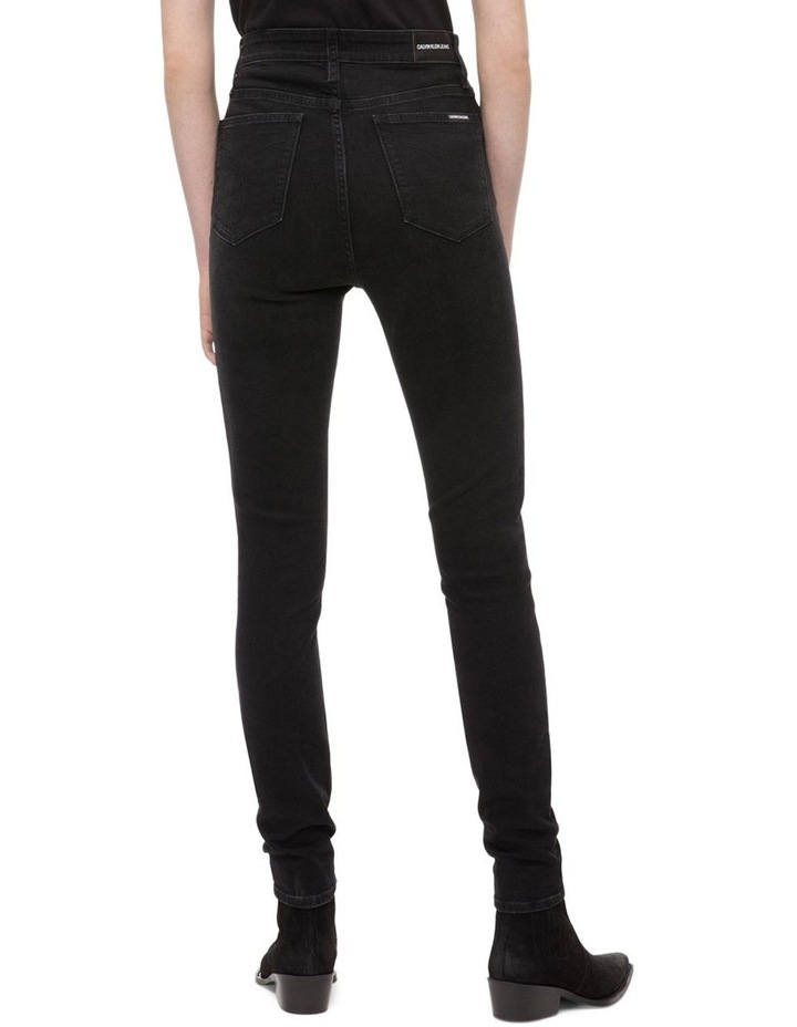 CALVIN KLEIN JEANS  HR SKINNY Denver WASHED BLACK image 2