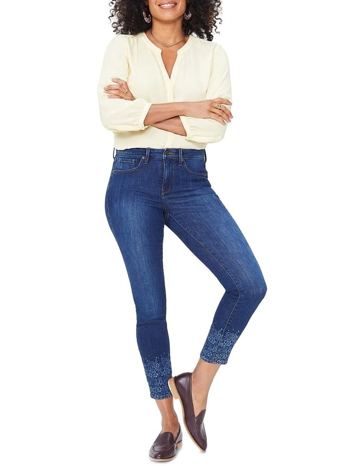Ami Skinny Ankle With Floral Long Sleever image 1