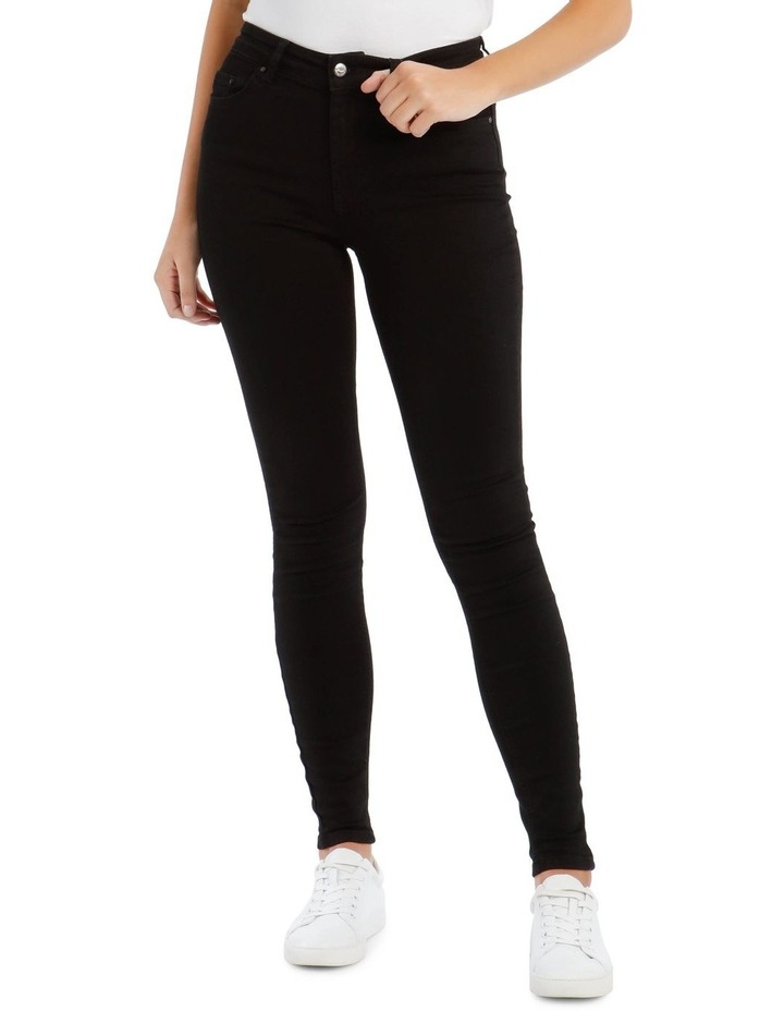 Black High Waist Skinny Jean image 1