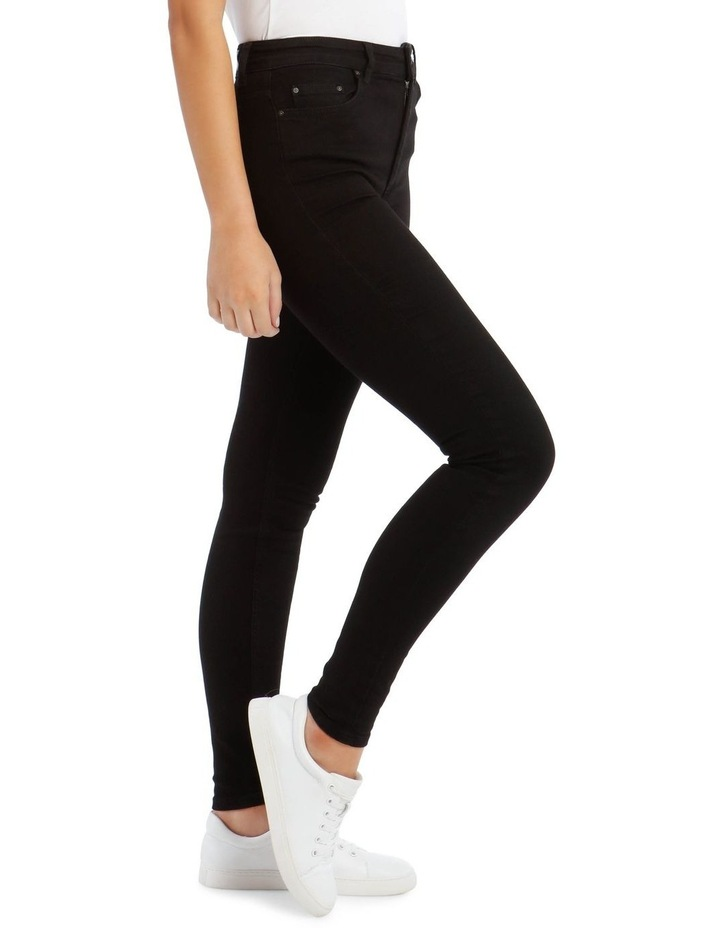 Black High Waist Skinny Jean image 2