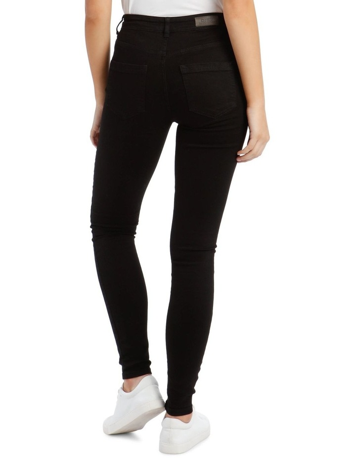 Black High Waist Skinny Jean image 3
