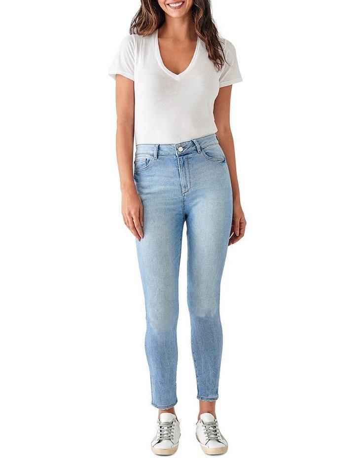 Farrow Crop Mid Rise Instasculpt Skinny Jeans image 1